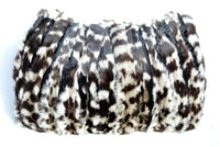 RARE XXL 1940's-50's Spotted Cream & Black FUR Purse & Handwarmer