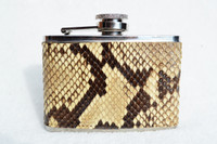 Custom PYTHON Skin 4 Oz. Stainless WHISKEY Flask - NEW!