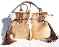 Stunning 2000's SPRINGBOK Fur Shoulder Bag Tote - Diane Gail
