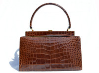 Timeless LESCO 1950's-60's ALLIGATOR Skin Handbag