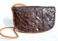 BOHO Festival Casual Brown 1960's Crocodile Skin Shoulder Bag