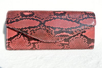 LAI 2000's PINK PYTHON Snake Skin Clutch Bag