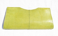 Lime GREEN Early 2000's Lizard Skin CLUTCH Bag - LAI!