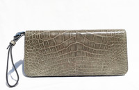 Stunning GRAY 2000's ALLIGATOR Skin CLUTCH Wristlet LEGACY Bag - COACH Limited Edition