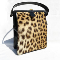 1950's-60's GENUINE EXOTIC FUR & Leather Handbag