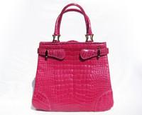 Stunning PINK GIORGIO'S Palm Beach  ALLIGATOR Belly Skin Handbag