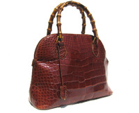 XL 15 x 10 Cognac GIORGIO'S Palm Beach ALLIGATOR Belly Skin Handbag Shoulder Bag