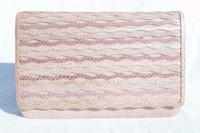 """Lavender  """"WOVEN"""" 1970's-80's Karung SNAKE Skin Clutch Shoulder Bag - ANDREA PFISTER"""