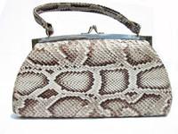1960's Natural MATTE Finish PYTHON Snake Skin Handbag
