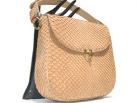 BUTTERSCOTCH 1960's MATTE-Finish Snake Skin Shoulder Bag - MANON