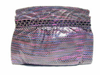 1970's PURPLE Python Snake Skin Clutch Shoulder Bag - VARON