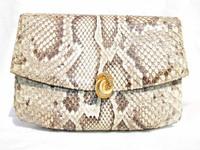 MANON 1960's PYTHON Snake Skin CLUTCH Shoulder Bag