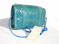 AQUA 1980's-90's PYTHON Snake SHOULDER Cross Body Bag- FALCHI