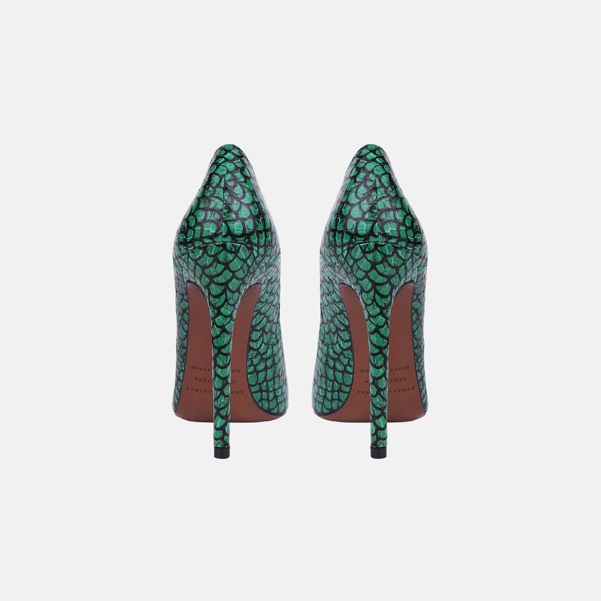 GILDA PUMP Printed Emerald Snakeskin