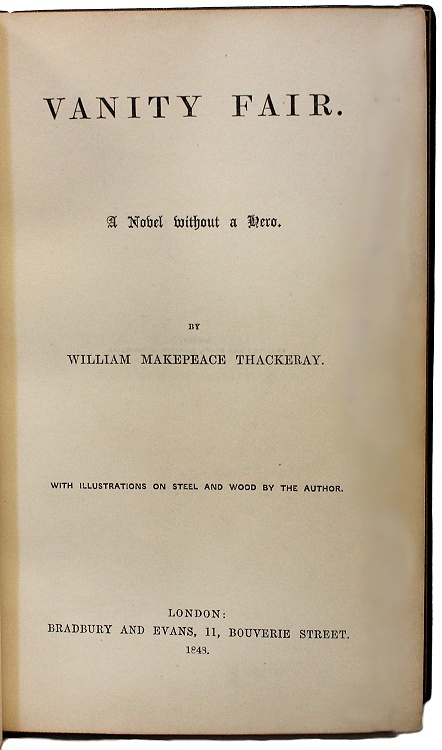 Thackeray Vanity Fair 1st Edition 1st Issue In A Fine Cosway Binding Ebay