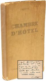 COLETTE, Sidonie-Gabrielle. Chambre d'Hotel. (PRESENTATION COPY)