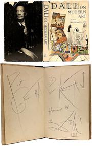 DALI, Salvador (Haakon M. Chevalier - translator). Dali on Modern Art: The Cuckolds of Antiquated Modern Art. (FIRST AMERICAN EDITION PRESENTATION COPY INSCRIBED BY DALI - 1957)