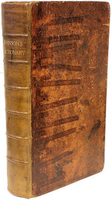 JOHNSON, Samuel. A Dictionary of the English Language. (THE FIRST ONE VOLUME EDITION - 1786)
