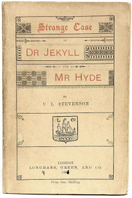 STEVENSON, Robert Lewis. Strange Case of Dr. Jekyll and Mr. Hyde. (FIRST LONDON EDITION - 1886)