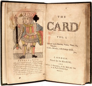 KIDGELL (John) - The Card (FIRST AND ONLY EDITION - 1755 - THE EARLIEST KNOWN MENTION OF BASEBALL)