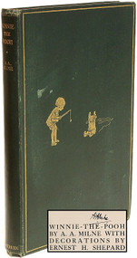 MILNE, A. A.. Winnie The Pooh. (FIRST EDITION - SIGNED BY MILNE - 1926)