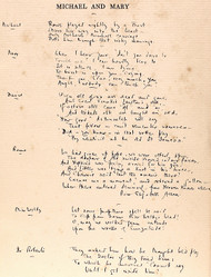 MILNE, A. A.. Michael and Mary A Play. (FIRST EDITION PRESENTATION COPY WITH A 50 LINE MANUSCRIPT POEM - 1930)
