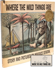 SENDAK, Maurice. Where The Wild Things Are. (EARLY EDITION SIGNED WITH AN ORIGINAL DRAWING OF MAX)