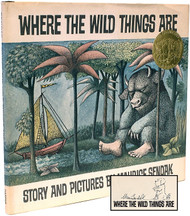 SENDAK, Maurice. Where The Wild Things Are. (EARLY EDITION SIGNED WITH AN ORIGINAL DRAWING OF MAX'S DOG)