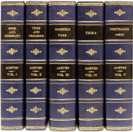 AUSTEN, Jane (R. W. Chapman). The Novels of Jane Austen. The Text based on Collation of the Early Editions. (LARGE PAPER EDITION - 5 VOLUMES - 1923)