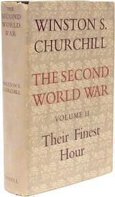 CHURCHILL, Winston. The Second World War - Volume 2 - Their Finest Hour. (FIRST EDITION - 1949) a