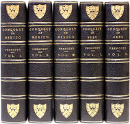 PRESCOTT, William. History of The Conquest of Mexico and Peru. (5 VOLUMES - 1901)