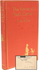 MILNE, A. A.. The House at Pooh Corner. (FIRST AMERICAN SIGNED LIMITED EDITION - 1928)