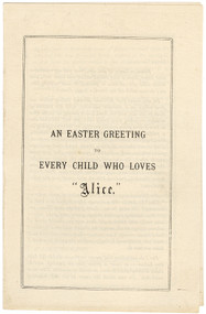 """DODGSON, Charles Lutwidge (Lewis Carroll). An Easter Greeting To Every Child Who Loves """"Alice"""". (FIRST EDITION FIRST ISSUE - 1876)"""