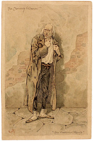 CLARK, Joseph Clayton (KYD) (Charles Dickens). The Chancery Prisoner (from The Pickwick Papers). (ORIGINAL WATERCOLOR - c.1890)