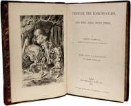 DODGSON, Charles Lutwidge: (Lewis Carroll). Through The Looking-Glass And What Alice Found There. (1872 - FIRST EDITION FIRST ISSUE)