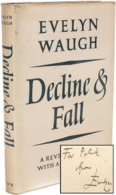 WAUGH, Evelyn. Decline & Fall. (REVISED EDITION WITH A NEW PREFACE AND A PRESENTATION COPY - 1962)