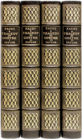 GOETHE, Johann Wolfgang von. Faust A Tragedy. (Bayard Taylor- translator) (4 VOLUMES - DELUXE LARGE PAPER EDITION - 1906)