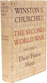CHURCHILL, Winston. The Second World War - Volume 2 - Their Finest Hour. (1949 - FIRST EDITION)