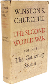 CHURCHILL, Winston. The Second World War - Volume 1 - The Gathering Storm. (1948 - FIRST EDITION)