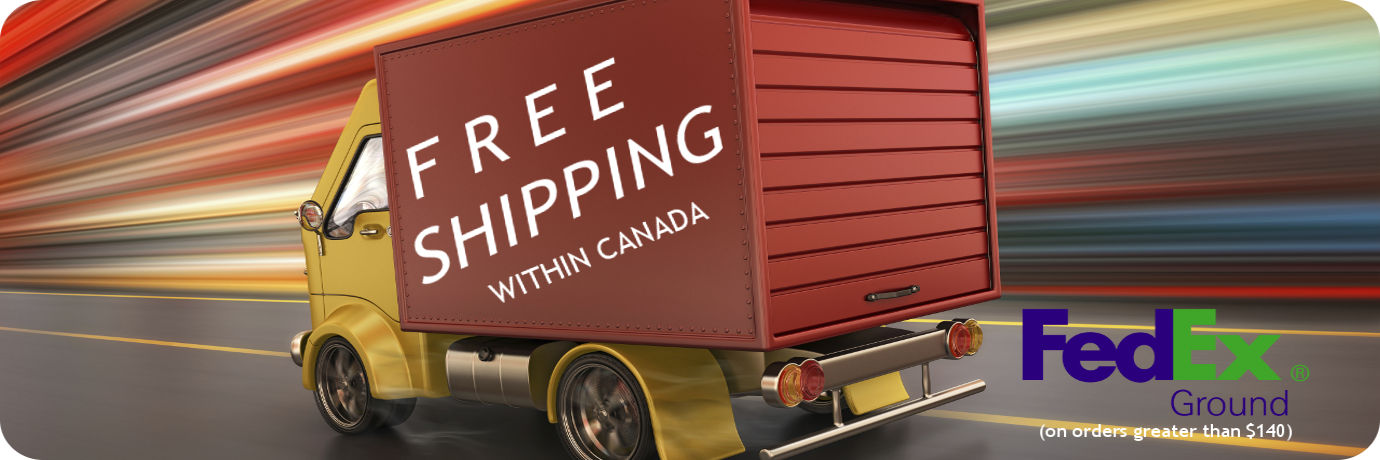 Free shipping on orders over $140 via FedEx Ground