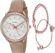 Fossil Tailor Ladies Watch and Jewelry Set ES4021