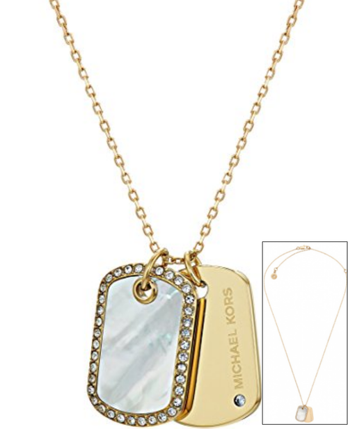 kors michael item en s necklace i gold qa pendant xl maritime plated women