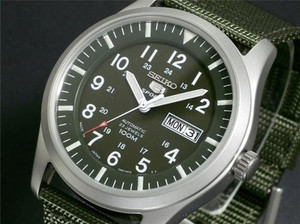 Seiko 5 Sports Men's Automatic Military SNZG09J1