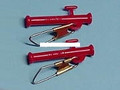 BnR Tackle 10702 Small Red Slydo - Sinker Slide with Clips, 2/PK - 10702