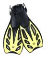 Calcutta BR57656 Flex Blade Swim - Fins, w/Strap Lg/XLg Yellow/Black - BR57656