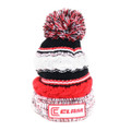 Clam 10958 Red Knit Pom Stocking Hat - 10958