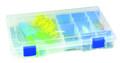 "Flambeau 4004 Tuff-Tainer 4-Fixed - Comps w/Dividers 11x7.25x1.75""w/Zeru - 4004"