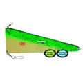 Gold Star 5030 013 942 Rudder - Flasher 13 inch Glow-Green Spatter - 5030 013 942