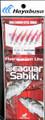 Hayabusa EX140-12 Sabiki Seaguar - Red Hook Red Aurora Sz 12 (6 Hooks) - EX140-12