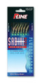 P-Line PSFCFSM-8 Fluorocarbon - Sabiki Rig Sz 8 Fish Skin w/Mylar - PSFCFSM-8